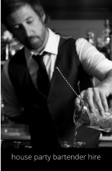 house party bartender hire