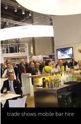 trade shows mobile bar hire