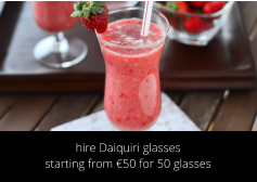 hire Daiquiri glasses starting from €50 for 50 glasses